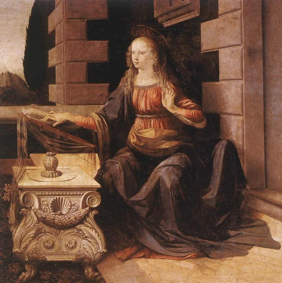 Annunciation detail2 | Leonardo Da Vinci | Oil Painting