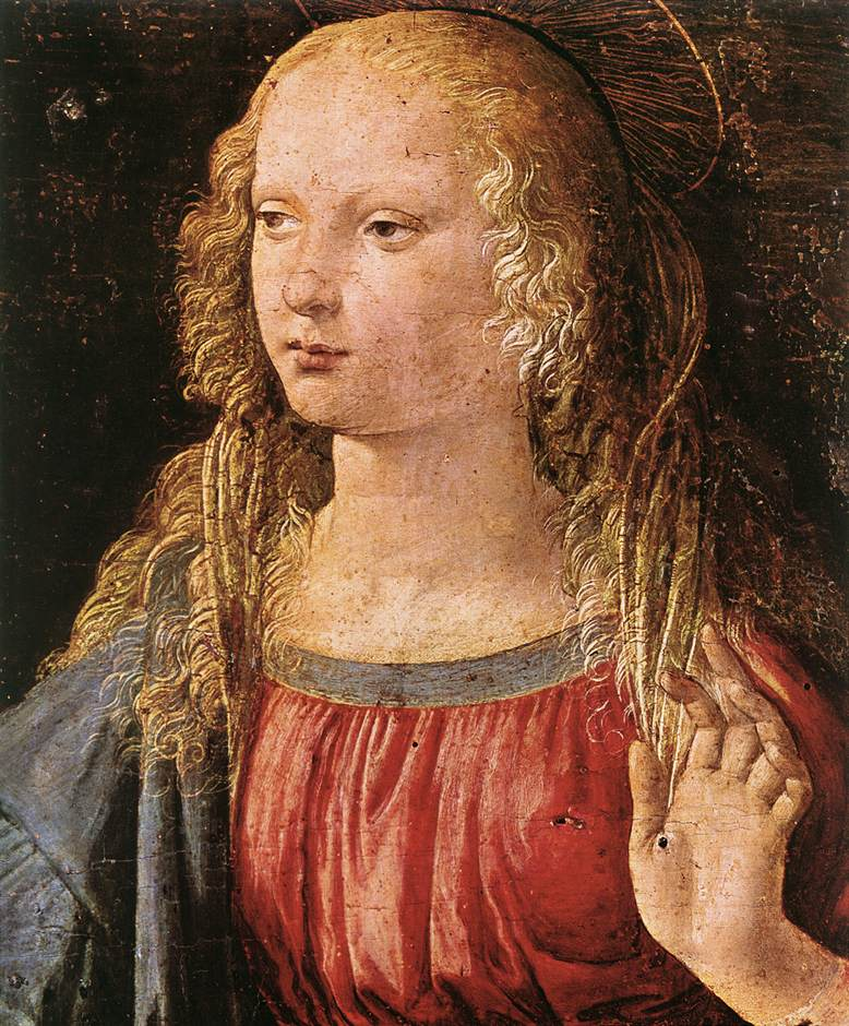 Annunciation detail3 | Leonardo Da Vinci | Oil Painting