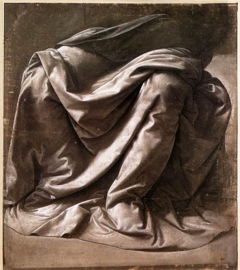 Garment study for a seated figure | Leonardo Da Vinci | Oil Painting