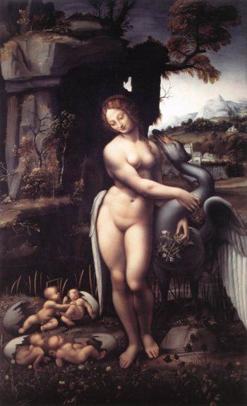 Leda 1508 15 | Leonardo Da Vinci | Oil Painting