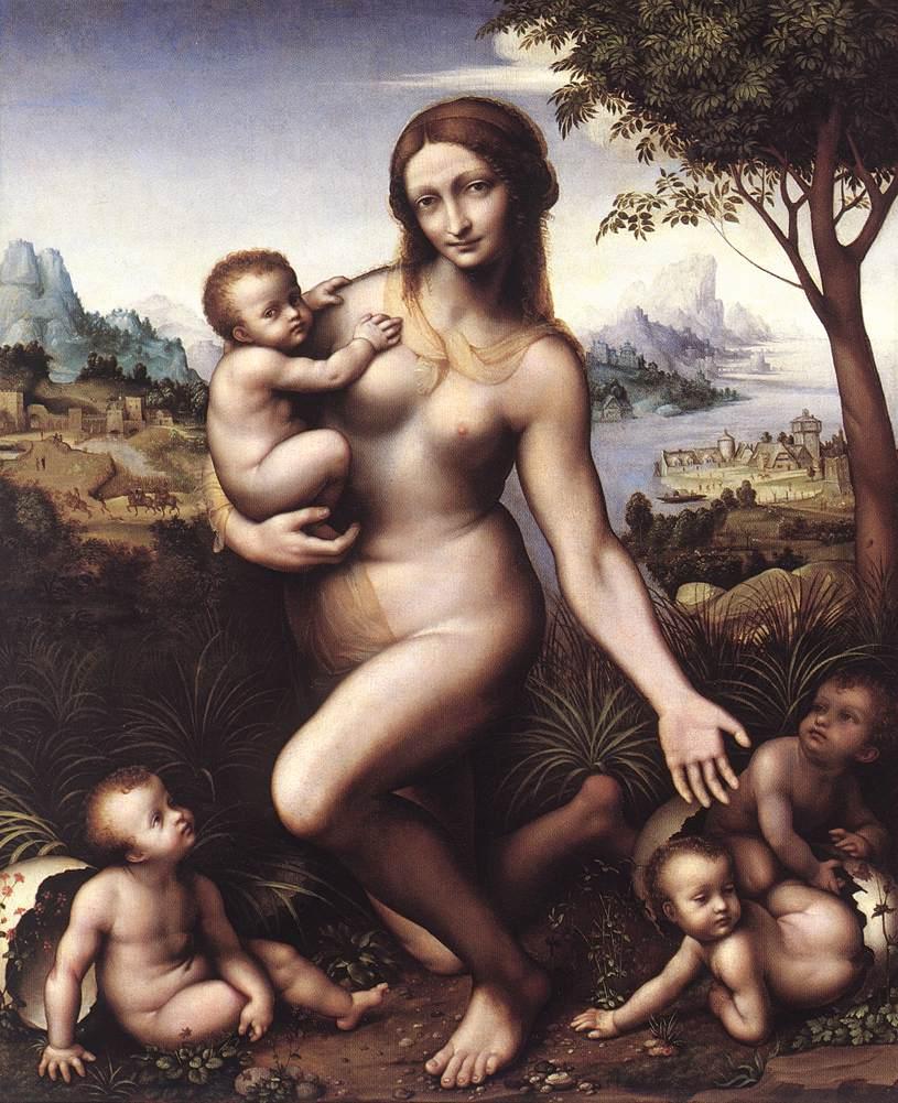 Leda 1530 | Leonardo Da Vinci | Oil Painting