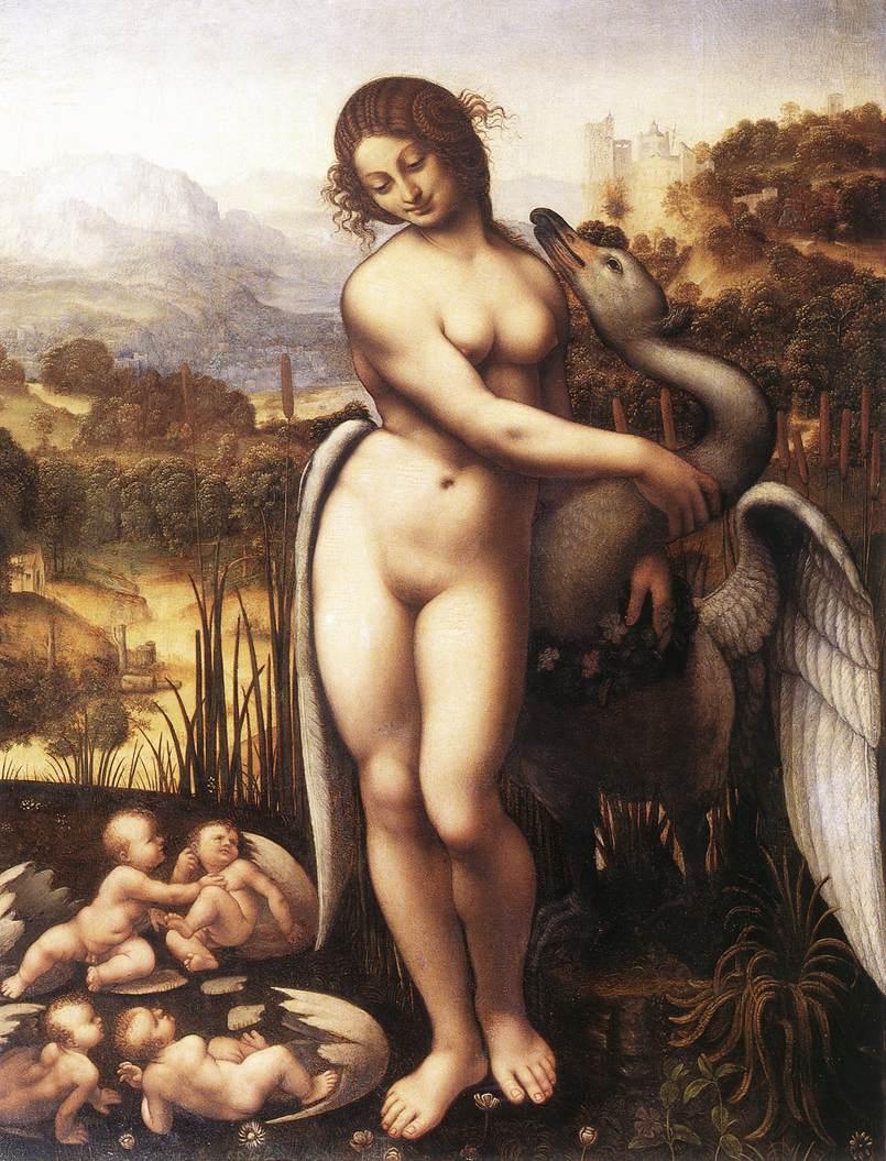 Leda and the Swan 1505 10 | Leonardo Da Vinci | Oil Painting