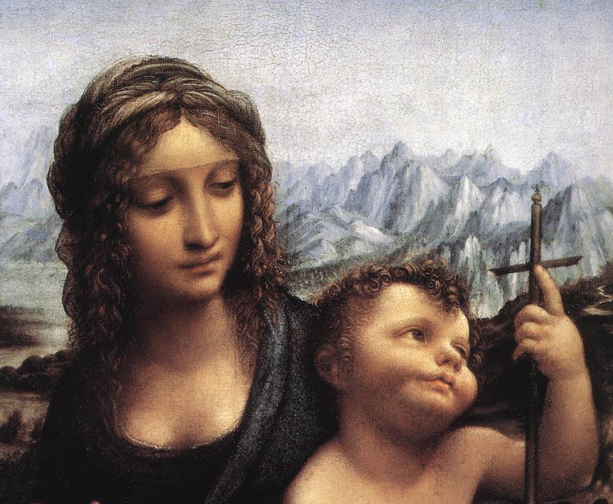Madonna with the Yarnwinder after 1510 detail | Leonardo Da Vinci | Oil Painting