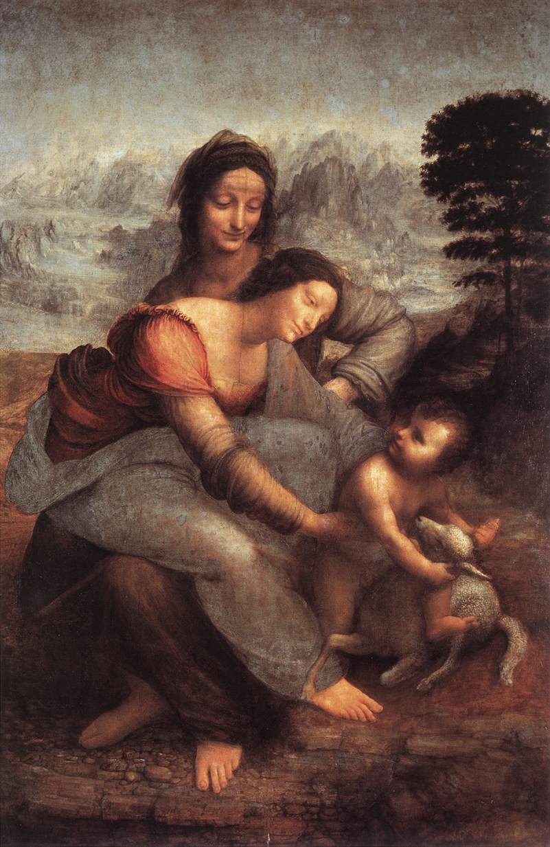 The Virgin and Child with St Anne | Leonardo Da Vinci | Oil Painting