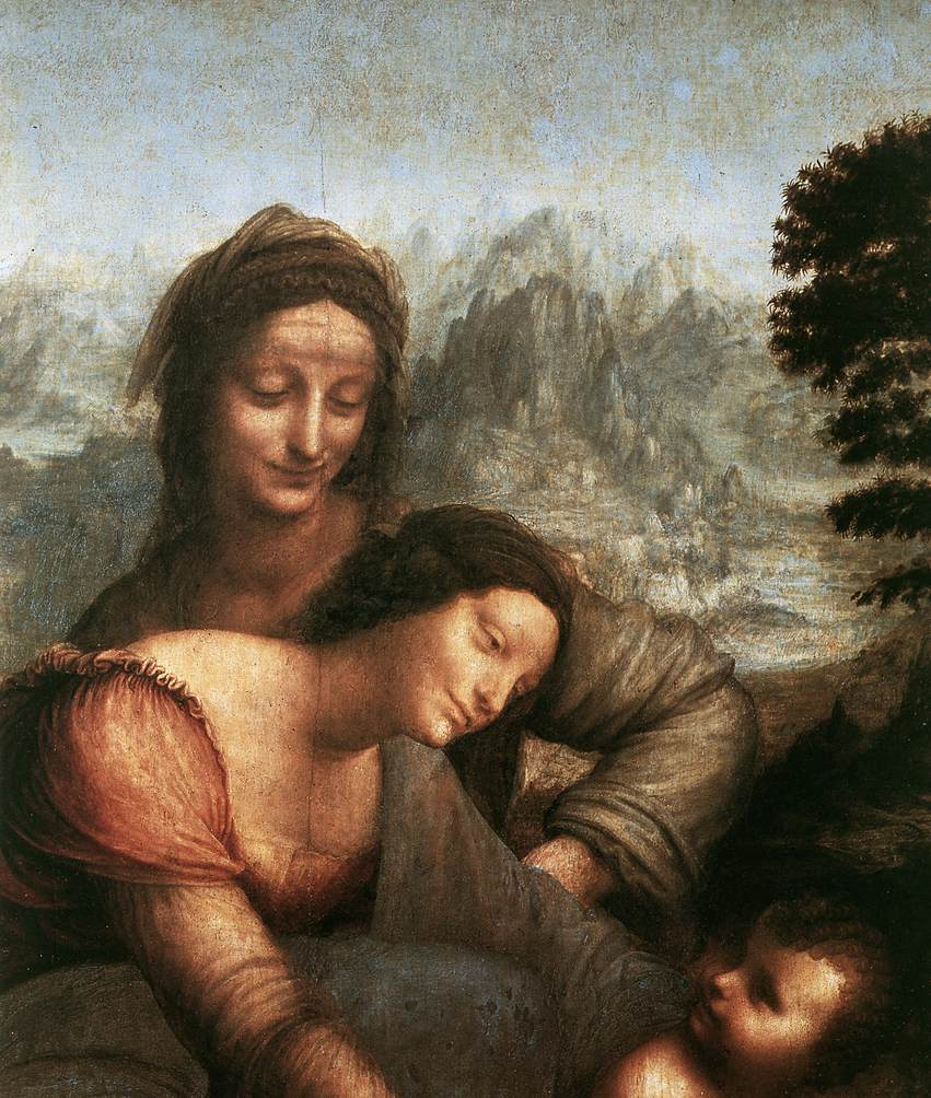 The Virgin and Child with St Anne detail 1 | Leonardo Da Vinci | Oil Painting