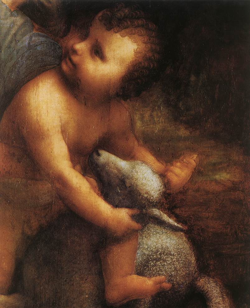 The Virgin and Child with St Anne detail 2 | Leonardo Da Vinci | Oil Painting