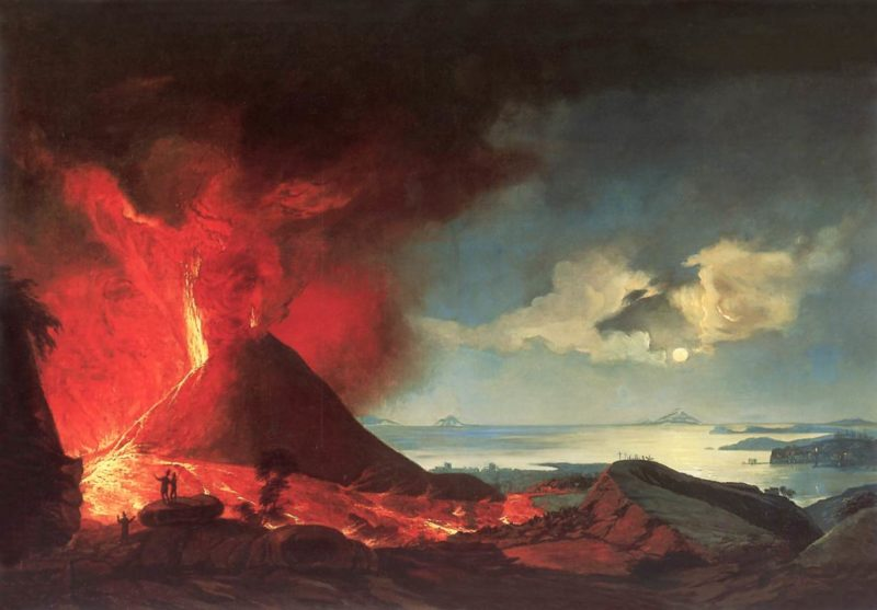 Eruption of a Volcano | Lajos Mezey | Oil Painting