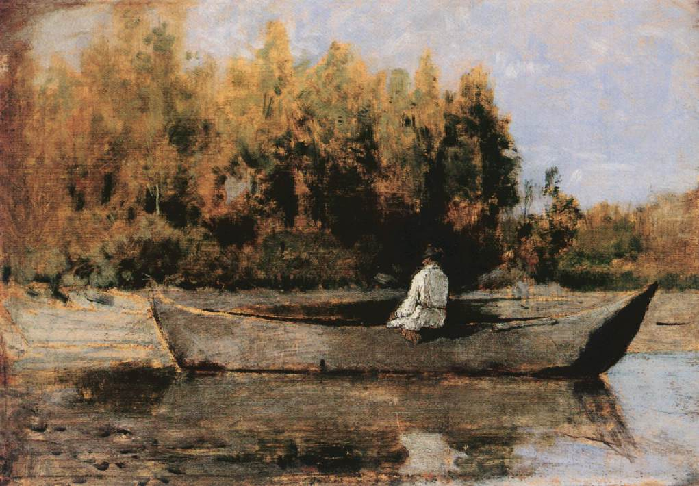 In the Boat 1870s | Geza Meszoly | Oil Painting