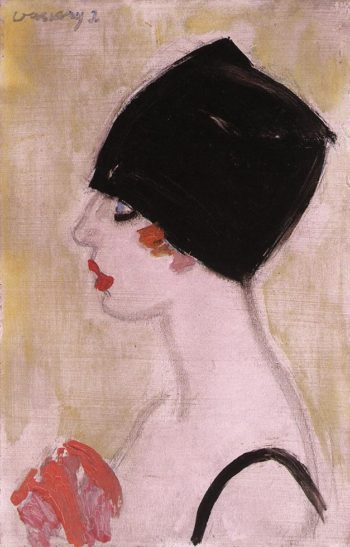 Woman in Profile with Black Turban | Janos Vaszary | Oil Painting