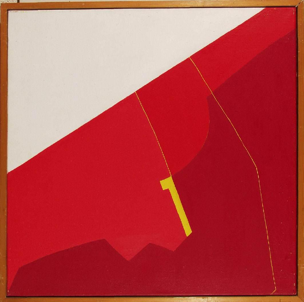 Red Image I 1974 | Julia Vajda | Oil Painting