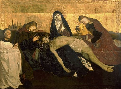 The Villeneuve-Les-Avignon Pieta Circa 1455 | Enguerrand Quarton | Oil Painting