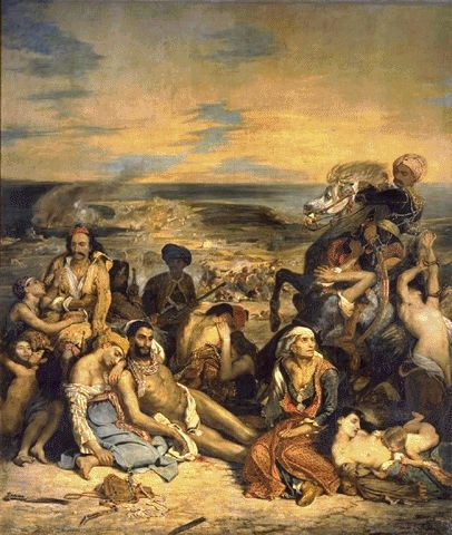 Scenes Of The Massacre At Chios 1824 | Eugene Delacroix | Oil Painting