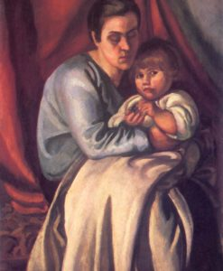 Mother and Child 1918 | Bela Uitz | Oil Painting