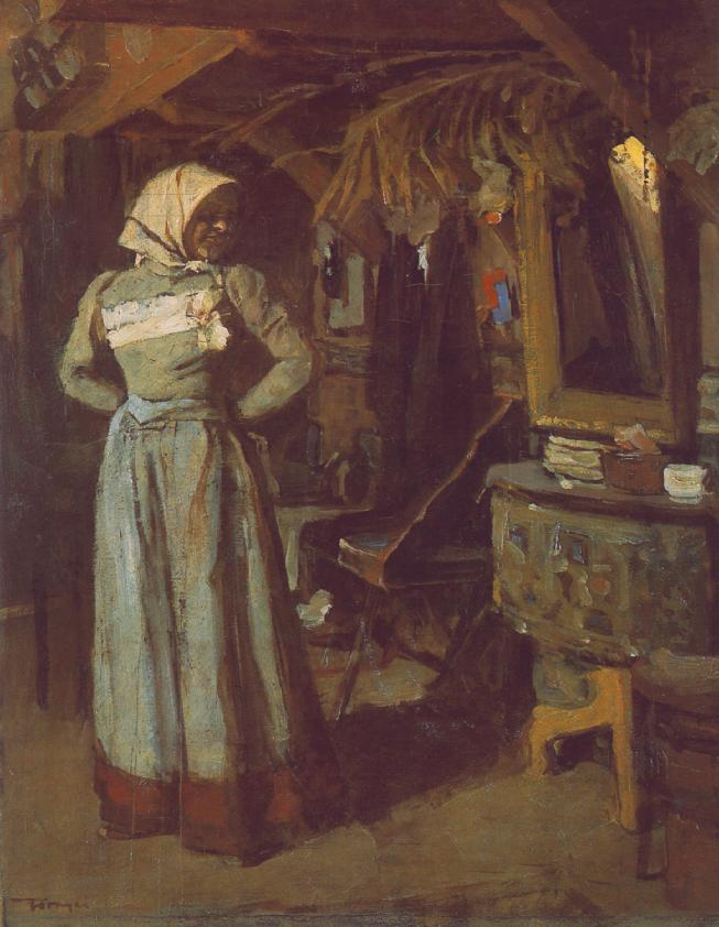 Young Woman in the Atelier 1904 | Janos Tornyai | Oil Painting