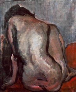 Sitting Nude from the Back 1919 | Janos Tornyai | Oil Painting