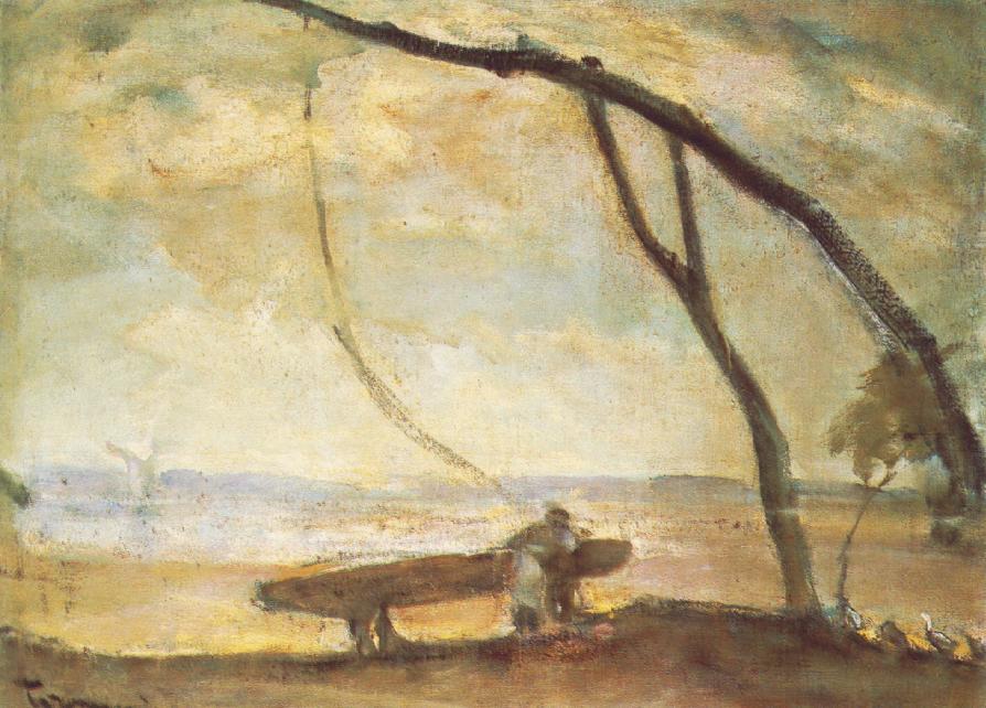 Shadoof (Looming) 1910s   Janos Tornyai   Oil Painting