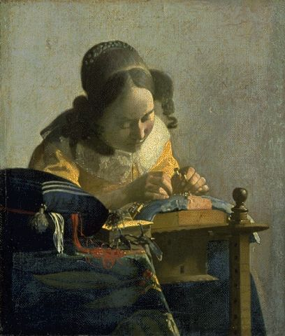 The Lacemaker 1665 | Johannes Vermeer | Oil Painting