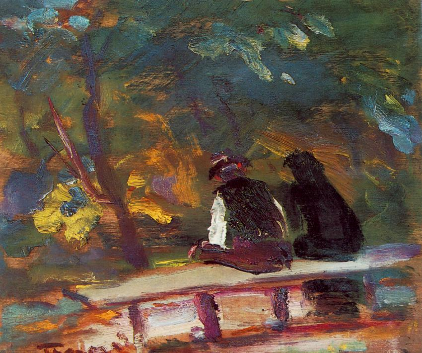 On the Bench 1933 34 | Janos Tornyai | Oil Painting