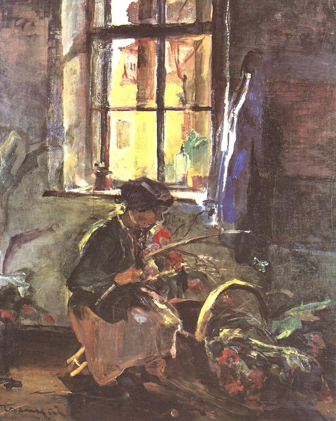 Making a Bunch of Flowers 1933 | Janos Tornyai | Oil Painting