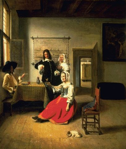 A Young Woman Drinking 1658 | Pieter De Hooch | Oil Painting