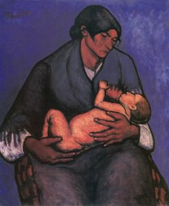 Gipsy Woman with Child 1908 | Lajos Tihanyi | Oil Painting