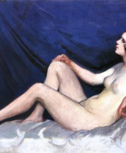 Nude in Blue Background 1930s | Janos Thorma | Oil Painting
