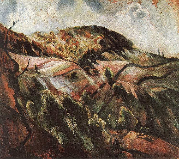 Zebegeny Hills (Sunny Landscape) 1923 | Istvan Szonyi | Oil Painting