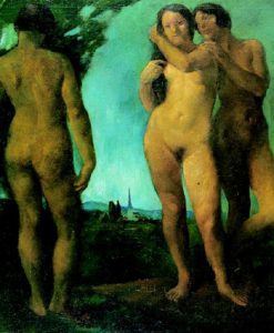 The Three Graces (Nudes in the Open) 1921 | Istvan Szonyi | Oil Painting