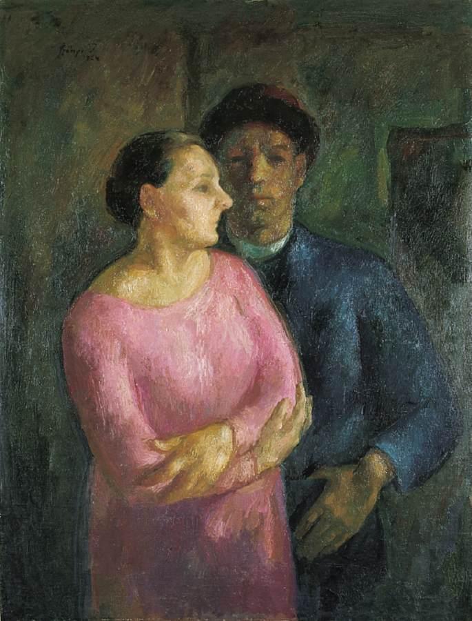 My Wife and I 1924 | Istvan Szonyi | Oil Painting