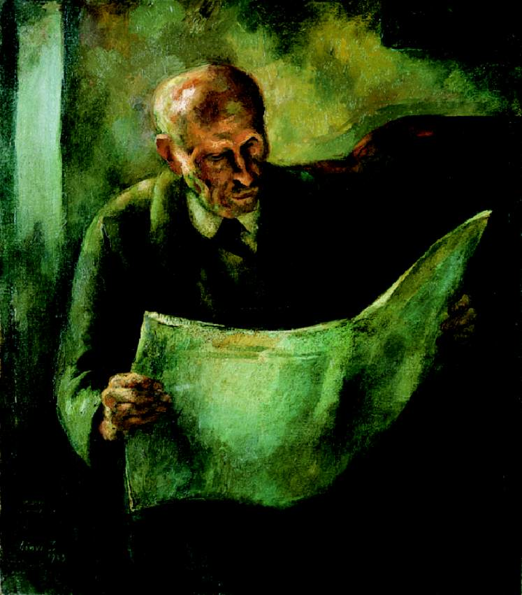 Man Reading (The Portrait of the Artist's Father) 1923 | Istvan Szonyi | Oil Painting