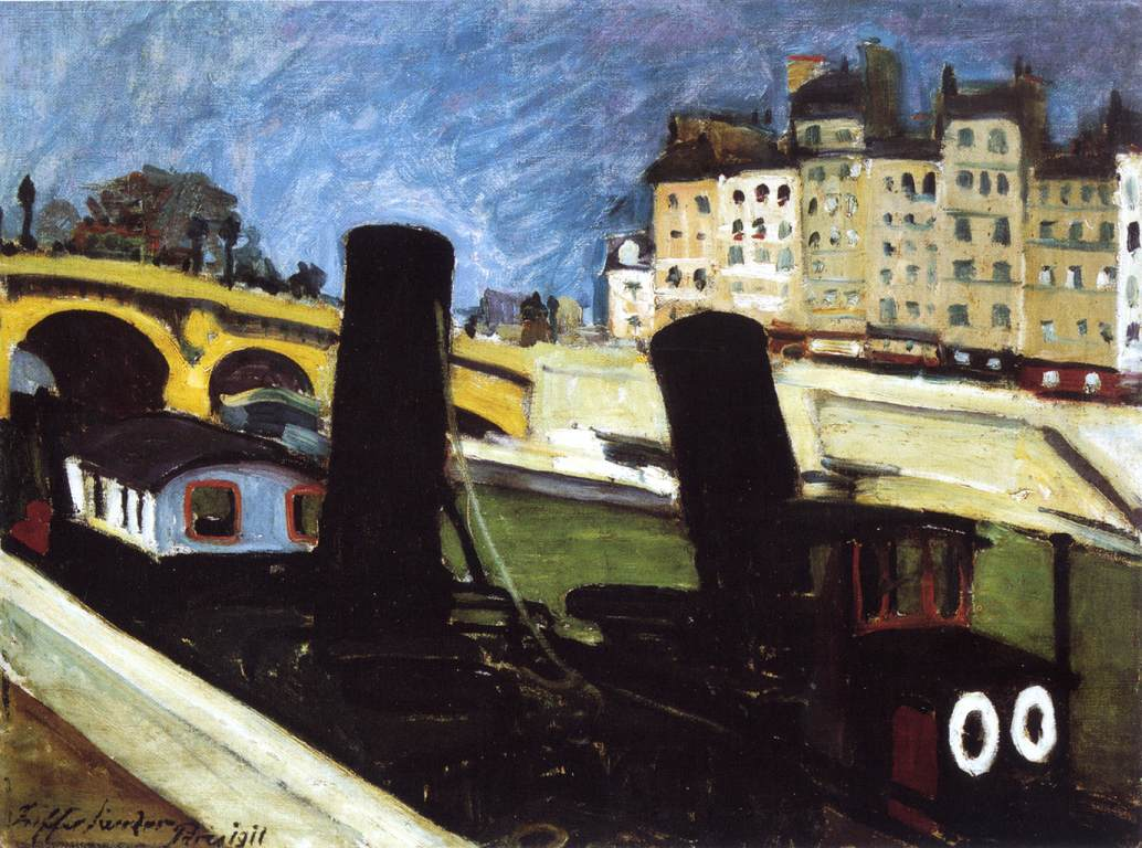 Boats on the Seine 1911 | Sandor Ziffer | Oil Painting