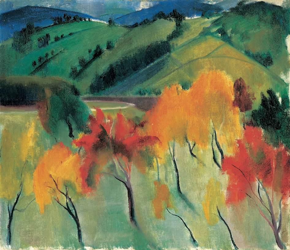 Autumn in Zebegeny | Istvan Szonyi | Oil Painting