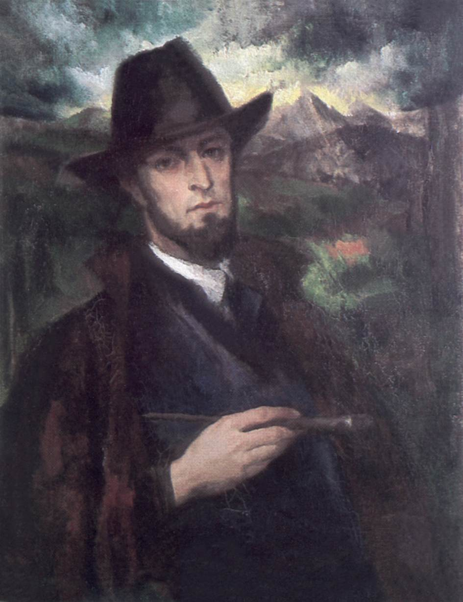 Self-portrait in Black Hat c 1926 | Laszlo Rozgonyi | Oil Painting