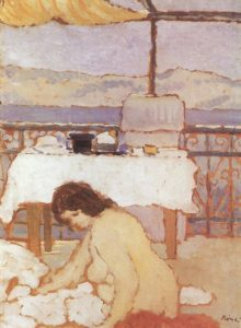 Nude on a Balcony 1909 | Jozsef Ronal Rippl | Oil Painting
