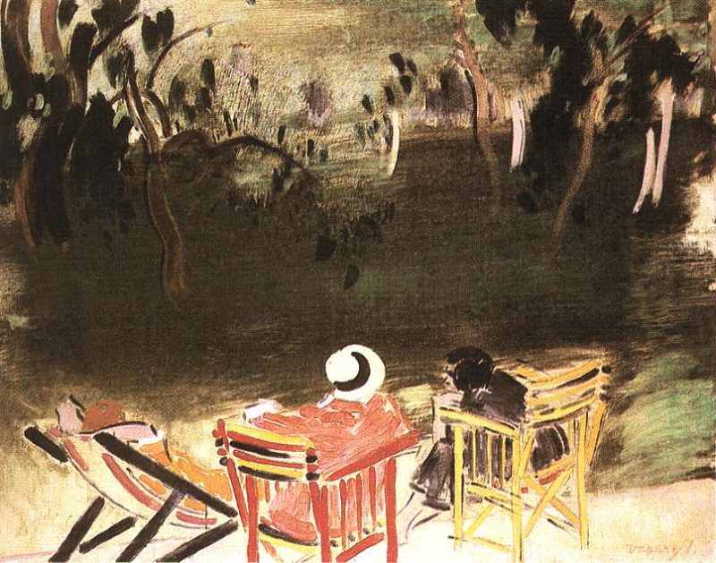 In the Park 1928 | Janos Vaszary | Oil Painting