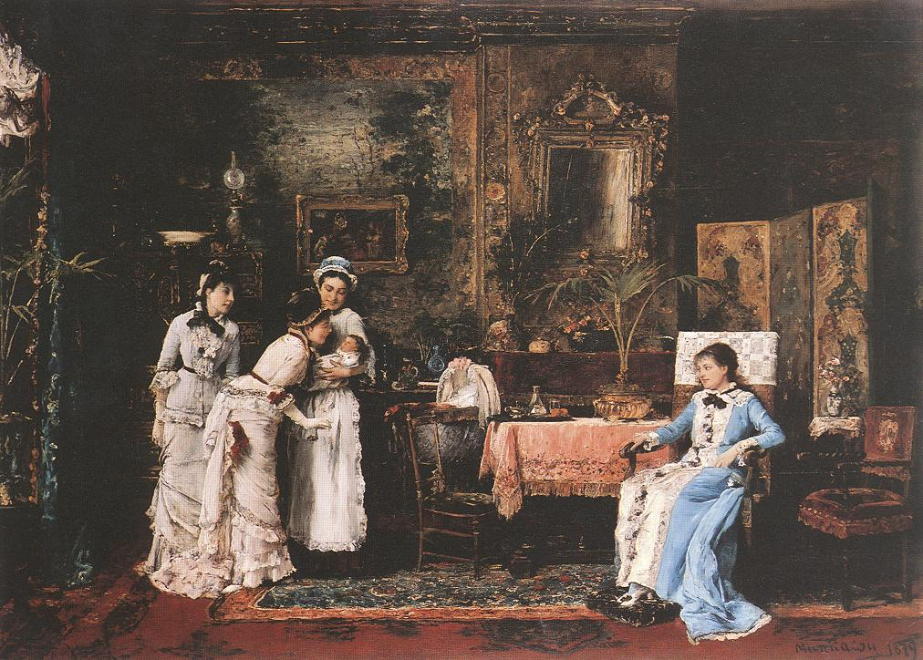 Baby Visitors 1879 | Mihaly Munkacsy | Oil Painting