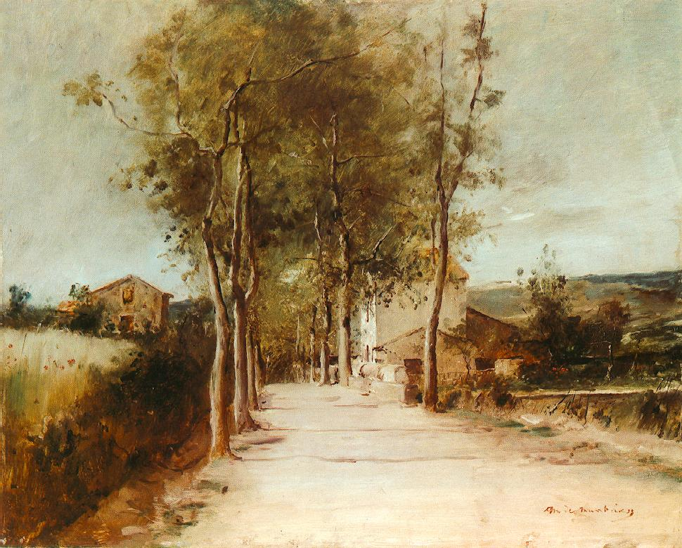 Avenue with One Story House 1882 | Mihaly Munkacsy | Oil Painting