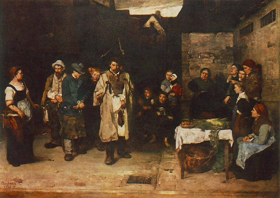 Tramps at Night 1872 73 | Mihaly Munkacsy | Oil Painting