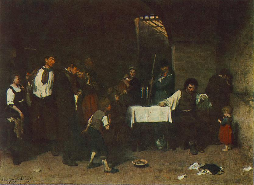 The Condemned Cell 1869 72 | Mihaly Munkacsy | Oil Painting