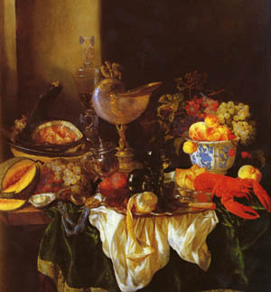 A Still Life With A Nautilus Cup | Abraham Van Beyeren | Oil Painting