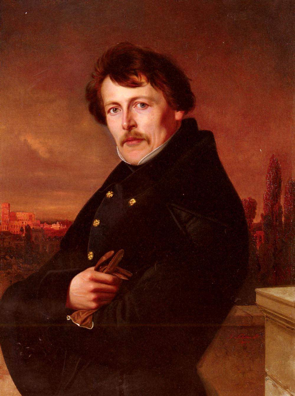 A Portrait Of A Gentleman | Adolf Schmidt | Oil Painting