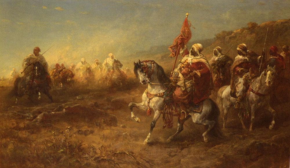 The Ambush | Adolf Schreyer | Oil Painting
