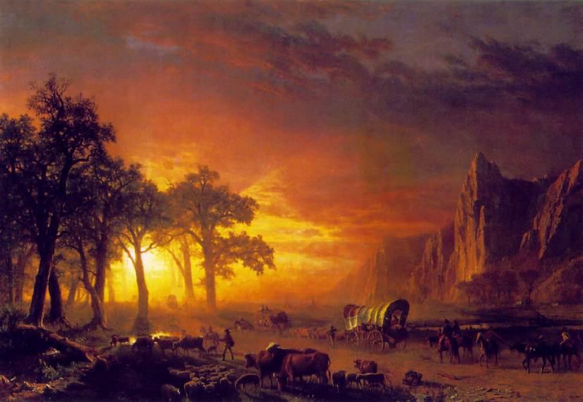 Emigrants Crossing The Plains 1867   Albert Bierstadt   Oil Painting