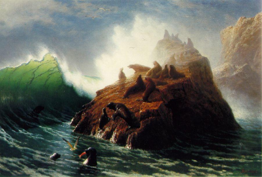 Seal Rock 1872   Albert Bierstadt   Oil Painting