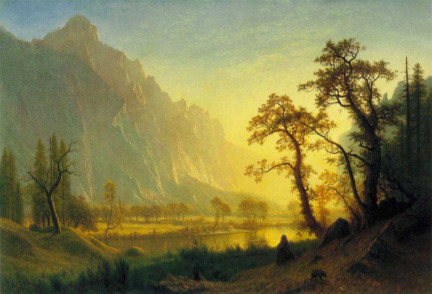 Sunrise Yosemite Valley   Albert Bierstadt   Oil Painting