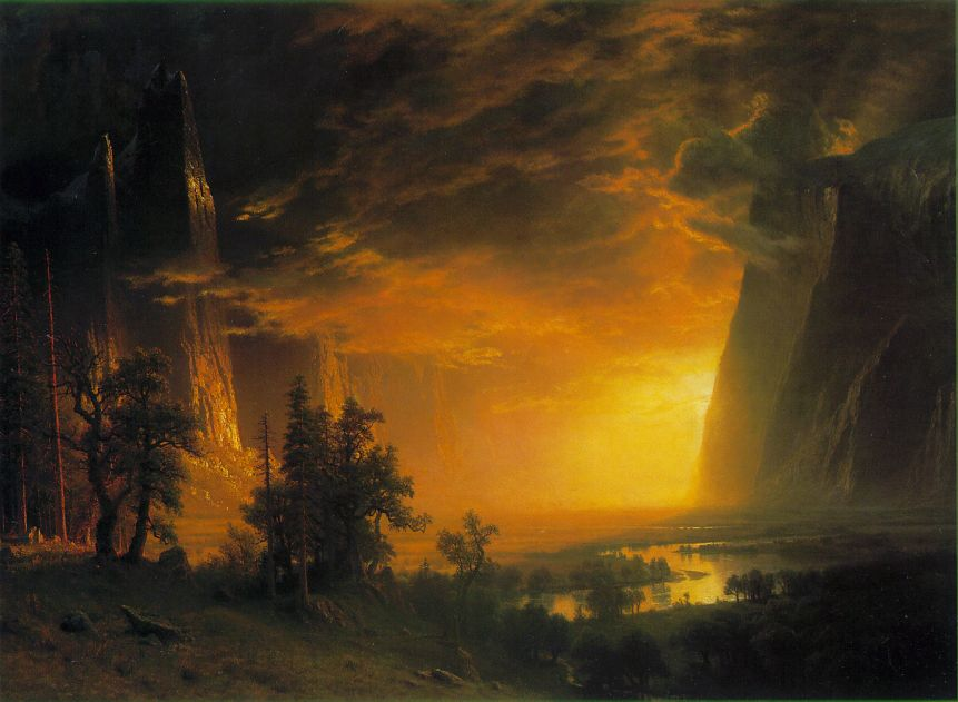 Sunset In The Yosemite Valley 1868   Albert Bierstadt   Oil Painting