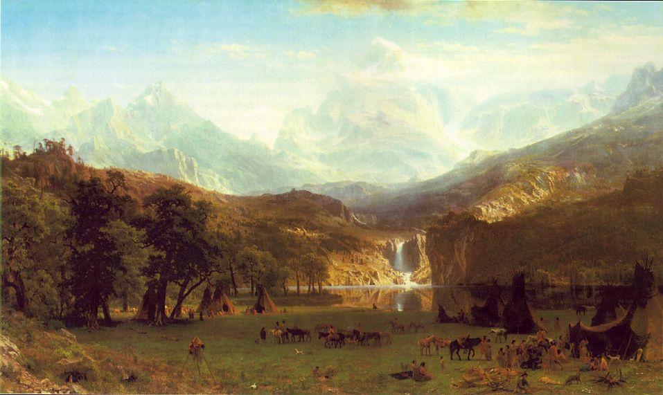 The Rocky Mountains Landers Peak 1863   Albert Bierstadt   Oil Painting