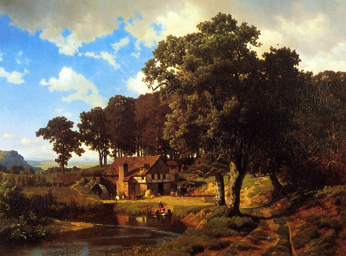 A Rustic Mill 1855 | Albert Bierstadt | Oil Painting