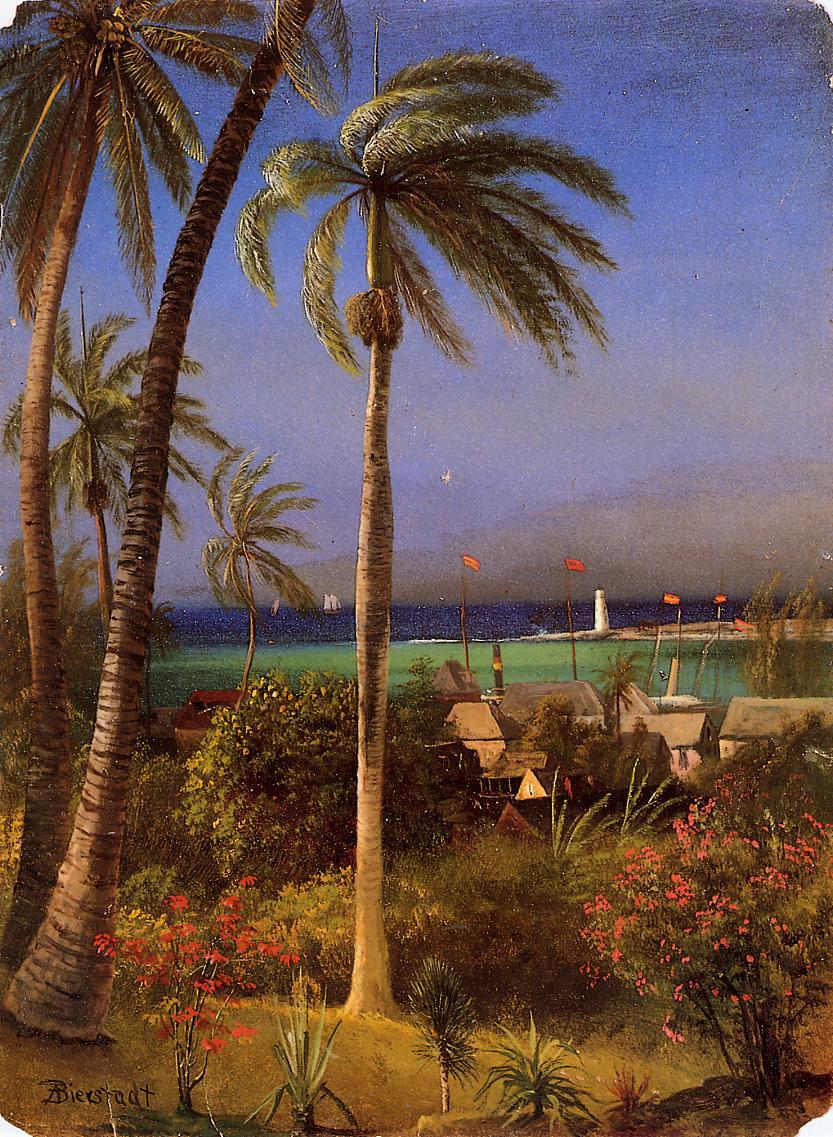 Bahamian View | Albert Bierstadt | Oil Painting