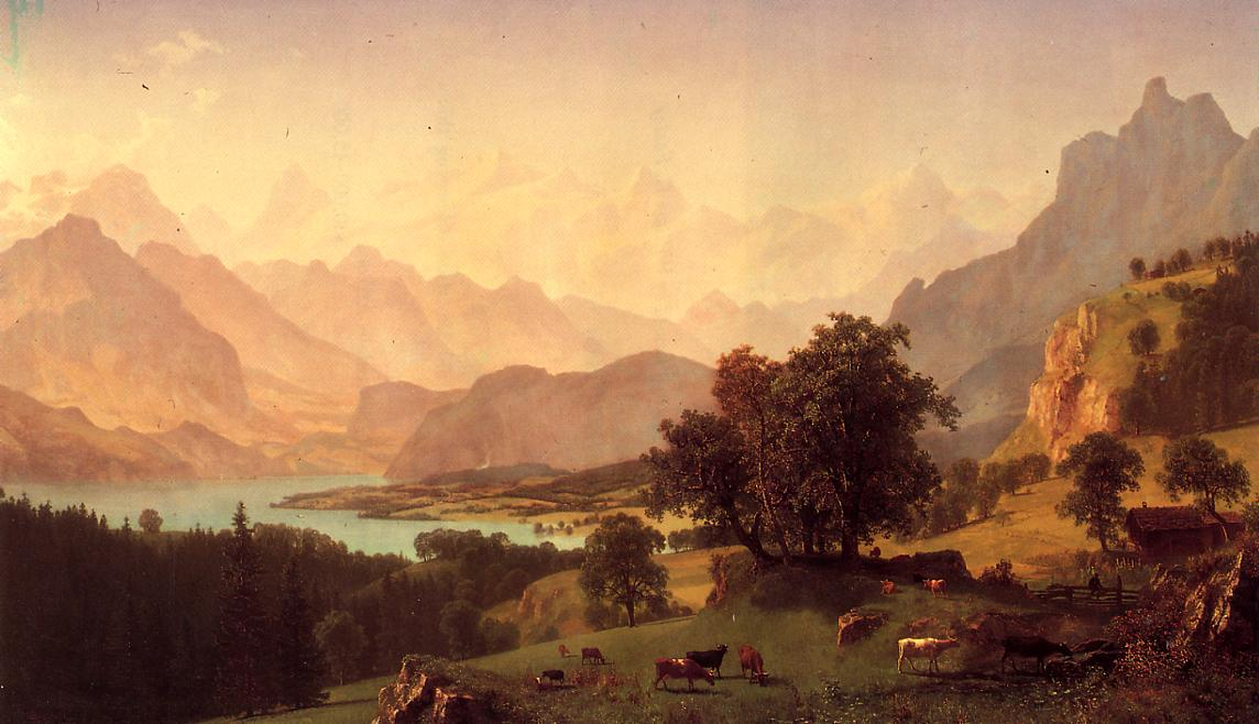 Bernese Alps 1859 | Albert Bierstadt | Oil Painting